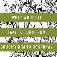 What would it take to turn from Crucify Him to Hosanna?
