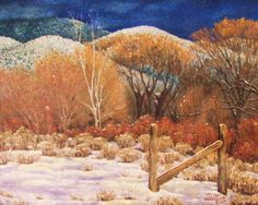 "16"" x 20"" Taos Winter by Diana Monte"